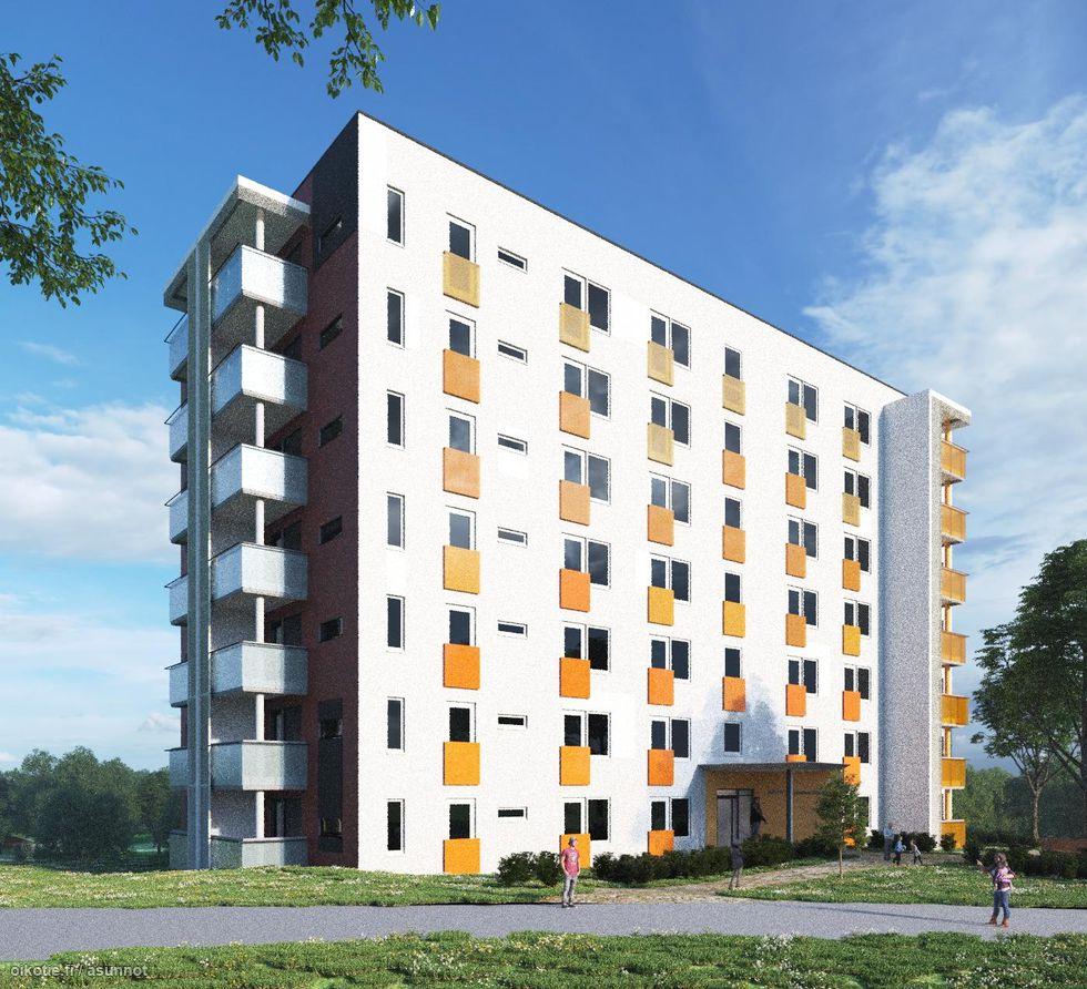 Tampereen Linnainmaan Harmonia A6<br><nobr>H + KT</nobr>, <nobr>27,5 m²</nobr>, <nobr>1 / 7 krs.</nobr>