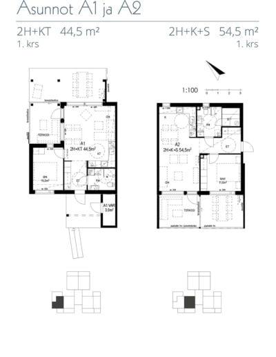 Asunnot A1 ja A2