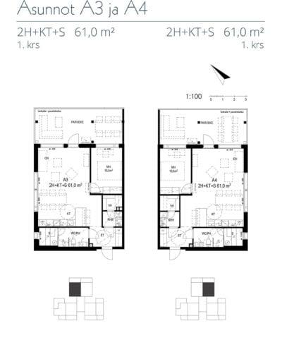 Asunnot A3 ja A4